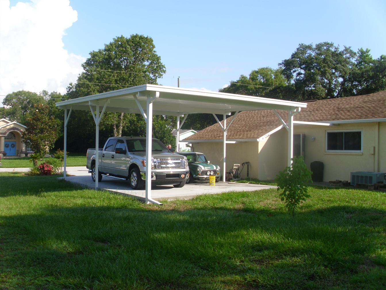 Gallery Of Houses With Carports : Carport aluminum covers